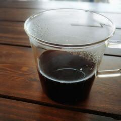 リラックス/休憩中/ダイエット効果があるような気がする/ホットコーヒー/ホット/コーヒー ひさびさのホットコーヒー☕ 最近は暑くて…