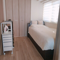 シンプル/おうちの美化委員/暮らし方/自分の部屋/マイルーム/部屋/... コンパクトなマイルーム。 クローゼット付…