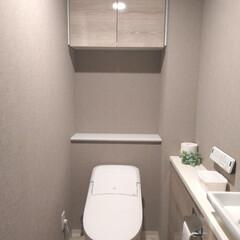 シンプル/水回り/おうちの美化委員/掃除/住まい/トイレ/... 我が家のトイレ🧻 掃除のしやすさを第一に…