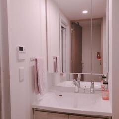 おうちの美化委員/お掃除/洗面所/掃除/暮らし 洗面所のお掃除をしました。 掃除のしやす…