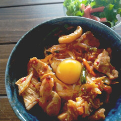 キムチ/家事/時短/料理/かんたん/スタミナご飯/... 晩御飯つくるの めんどくさいって 今日は…