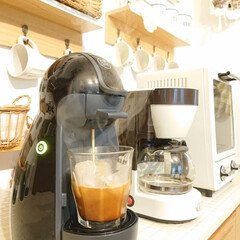 Nestle/ネスレ MD9744-PB ネスカフェ ドルチェグスト Piccolo プレミアム | ネスカフェ ドルチェ グスト(コーヒーメーカー)を使ったクチコミ「朝起きて、1番にする事 アイスコーヒーを…」