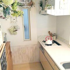編み物/ニトリ/Takara standardキッチン/リメイクシート/DIY/雑貨/... 我が家のキッチンの飾りはほとんど100均…