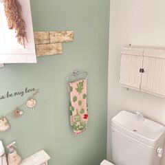 すのこDIY/DIY/簡単DIY/LIMIADIY同好会/おうち時間DIY/第3回これもあれもDIYしました! トイレの上の棚は100円のすのこでDIY…(1枚目)
