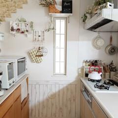 トースター オーブントースター おしゃれ 2枚 縦型 オリジナルレシピ付 コンパクト キッチン家電 プレゼント ラドンナ Toffy トフィ―オーブントースター | Toffy(トースター)を使ったクチコミ「キッチンの小窓に窓枠風作りました👍️ 新…」