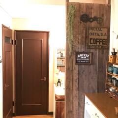 DIY/ディアウォール/洗面所/板壁/カフェコーナー/ネットショップ 洗面台を取り替えようと思いましたが、今回…