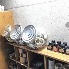 お店風/ざっくり収納/駄菓子ポット/マスキングテープ収納/収納 増え続けるマスキングテープ(^-^; 今…