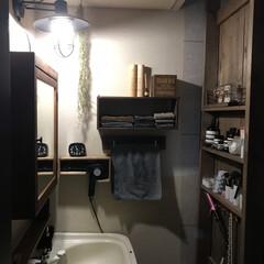 DIY/ドライヤー収納/ブラケットライト/IKEA/ディアウォール/洗面台リメイク/... 我が家の洗面所(2F)は古い洗面台のシン…(2枚目)
