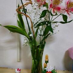 あけおめ/年末年始 飾ってみました😉  花はいいですね💠