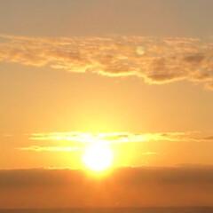 希望/旅/朝日/海/感動 宮崎から神戸に向かう船🚢からの御来光🌅