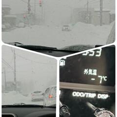寒波/雪かき/ホワイトアウト/休日 お久しぶりです(*˙︶˙*)ノ゙ 今日は…
