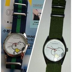 雑誌付録/腕時計/SNOOPY/カスタマイズ/100均/ダイソー 昨日買った 雑誌付録のSNOOPY腕時計…