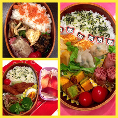 ネクタリン/コストコ/おやつ/お弁当 今週のお弁当は3つ♡♡  左上 鮭フレー…