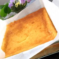 チーズケーキ 厚焼き卵じゃないよ🎵 チーズケーキ💖 混…