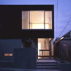 建築 『大林の家』外観夕景