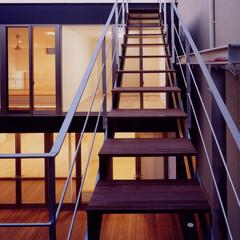注文住宅/屋上テラス/ルーフバルコニー/屋外階段 『中村の家』屋上テラスへの階段