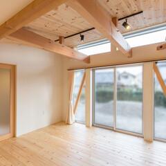 無垢フローリング/木の家/白/建築家/静岡/解放感/... 3-BOX ミニマムな住宅 リビング 「…