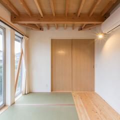 1800万円の家/2000万円以下/解放感/白/構造表し/木の家/... 3-BOX ミニマムな住宅 寝室 「開放…