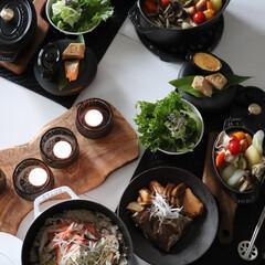 おうちごはん/グルメ/フード/夕ご飯/鯛/鯛のアラ煮/... 幸せおうちごはんは洋風スパイス鍋に和食メ…(1枚目)