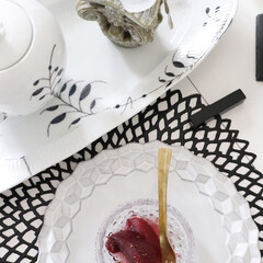料理/ワインコンポート/りんご/りんごのレシピ/スイーツ作り/sweet/... いつもの食卓 ホワイトでセッティング り…