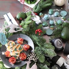 焼かないマカロン/ブルースピルリナ/スピルリナ/DICスピルリナ/マカロン/クリスマスツリー/... クリスマスがやってきた🎄 今年はパイでツ…