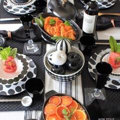わたしの手作り/ブラッドオレンジづくし/料理/おうちごはん/白黒ホーム/ワインと料理/... わたしの手作りブラッドオレンジを使ったパ…
