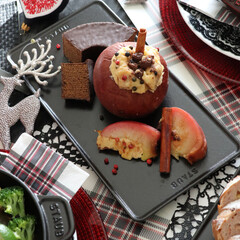 簡単料理/クッキング/料理/ファルシ/リンゴ/ストウブ スイーツ/... 幸せおうちごはん🍚 クリスマスに向けて簡…