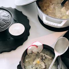野菜スープ/白菜スープ/白菜/フグ出しスープ/家庭料理/料理/... 今日のストウブで野菜食  さっぱり野菜ス…(2枚目)