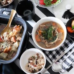 根菜の煮物/ストウブセラミック/器/ガラス食器/ナハトマン/ストウブ/... 野菜中心のごはん 和食を中心に根菜類の …