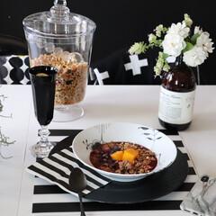わが家の食器/食器/デンマーク/デンマーク食器/器/ロイヤルコペンハーゲン/... いつも白黒食器を愛用してます。 今回はデ…