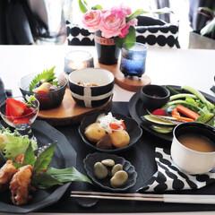 野菜食/イッタラウルティマツーレ/北欧/おうちごはん/和食/北欧食器/... わたしのごはん🍚  実は平日 主人との食…