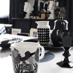 マリメッコ マグカップ シイルトラプータルハ 絵柄 marimekko SIIRTOLAPUUTARHA 99 197 | marimekko(マグカップ)を使ったクチコミ「朝の風景 marimekko SIIRT…」