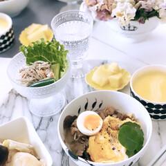 おうちごはん/昼ごはん/お昼/牛尾理恵さんのレシピ本から/黄色/イエロー/... コロナの影響での在宅勤務  毎日 お昼ご…