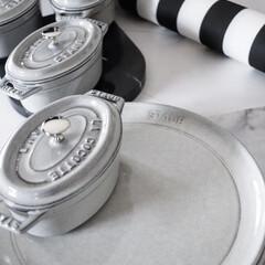STAUB ストウブ ピコ・ココット オーバル/15cm グレー/容量600cc | ストウブ(圧力鍋)を使ったクチコミ「オススメキッチンアイテム ストウブもセラ…」