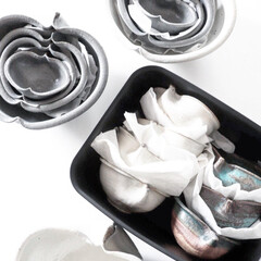 【業務用 クッキングペーパー】シェフ キッチンペーパー たっぷり吸収M 100枚×2ロール | 花王(せっけん)を使ったクチコミ「器が好きで季節ごとに増えていく 食器です…」