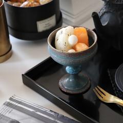 アールグレイマリネ/朝の一コマ/アンティークのような器/器/信楽焼き/藤原純/... 今日は旬の梨を使って アールグレイマリネ…