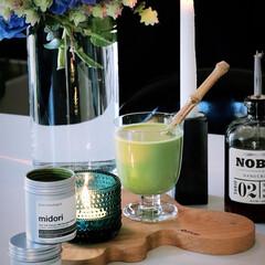 iittala イッタラ Kastehelmi カステヘルミ キャンドルホルダー 64mm アップルグリーン | イッタラ(皿)を使ったクチコミ「今日のおやつは、 抹茶オロジストのmid…」