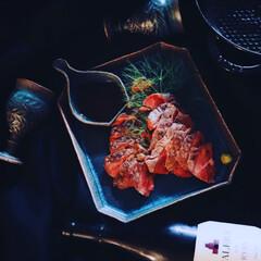 ストウブ staub ビュッフェスキレット 26cm 黒 40510-617 RSTE301 | STAUB(皿)を使ったクチコミ「昨晩のご飯 おうち時間なる おうち…」
