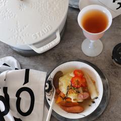 簡単料理/食器/セリア/デザインレターズ/スープ/白い食器/... まだまだ寒さが残る 日々がありますが 温…