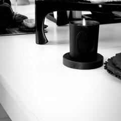 ブラックインテリア/黒い暮らし/テーブルセッティング/ディスプレイ/正月のセッティング/お正月/... 今年初の食卓 和と北欧とミックス させま…