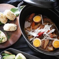 煮込み料理/低温でコトコト/時短調理/簡単料理/簡単レシピ/根菜レシピ/... ストウブ料理 大根とゴボウ、豚バラ 人参…