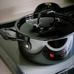 黒い鍋/黒/鍋/キッチンアイテム/ブラックステンレス/軽い鍋/... おすすめ品 熱伝導に優れたステンレス鍋 …