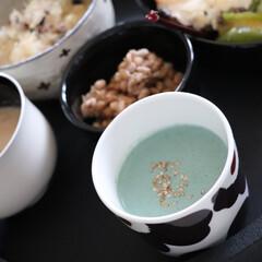 わたしのごはん/スーパーフード/ローフード生活/ごはん/ローフード/食生活見直し中/... 幸せ私のご飯 胡麻豆腐を作りました😬  …