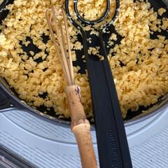 スキレット 16cm ブラック | ストウブ(スキレット)を使ったクチコミ「このキッチンアイテム便利 竹製の泡立て器…」