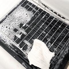 そうじの神様 キッチン用 アミタワシ(モップ、雑巾)を使ったクチコミ「定期的に魚焼きグリルの汚れ落とし 直に使…」