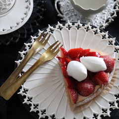 ケーキ/1年に1回/ライフ/ライフスタイル/インテリア雑貨/イケアクロス/... 昨日のホワイトデー 夫にもらったストロベ…