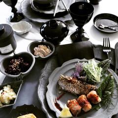 手料理/神田料理/料理/今日の夕食/おうちごはん/グレー/... 今日のご飯 またまた簡単料理  ●豚コマ…