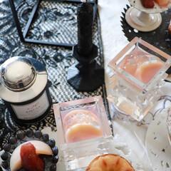 紅茶 リーフタイプ MARCO POLO MARIAGE FR〓RES(リーフティー、茶葉)を使ったクチコミ「もう直ぐ桃も終わりですね コンポートを作…」