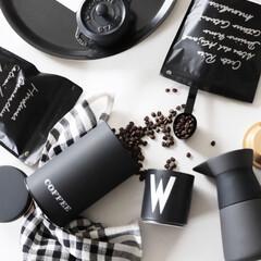 モノトーンインテリア/デザインレターズ/保存/コーヒ豆/コーヒー缶/カフェ/... みんなでstay Home 時間が解決し…
