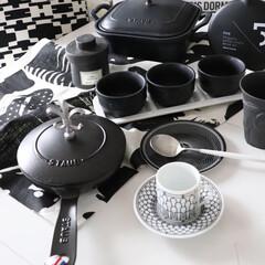 白黒雑貨/器/食器/カップアンドソーサー/テーブルウエア/デミカップ/... わたしのお気に入りは白物  ブラックをこ…